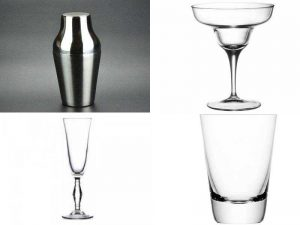 Аксессуары бармена: шейкер, барные стаканы