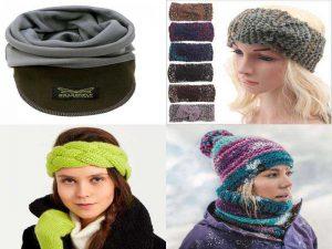 Аксессуары на зиму: бафф, повязки на голову