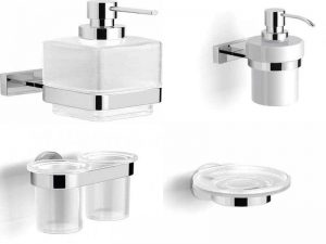 Аксессуары Langberger для ванн и раковин: диспенсеры, стаканы, мыльницы