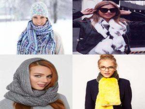 Зимние аксессуары: шарф, шарф-снуд, воротник с украшениями