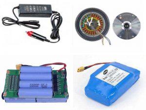Аксессуары, необходимые при эксплуатации гироскутера: зарядное устройство, аккумулятор, запасные колёса, внешний аккумулятор