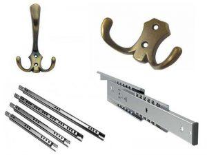 Аксессуары для мебели: крючки и направляющие