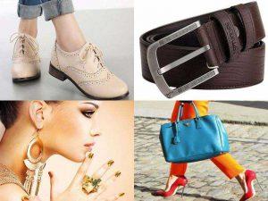 Аксессуары для одежды: обувь, сумочка, ремень, бижутерия