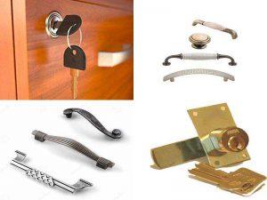 Аксессуары для мебели: замки и ручки