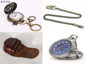 Аксессуары для карманных часов: брелок, стекло, цепочка, футляр