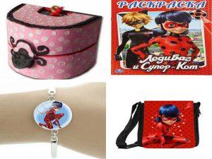 Аксессуары Леди Баг: шкатулка, сумка, браслет, раскраски