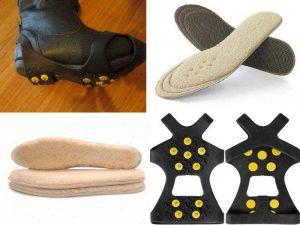 Зимние аксессуары: накладки на подошву, зимние стельки
