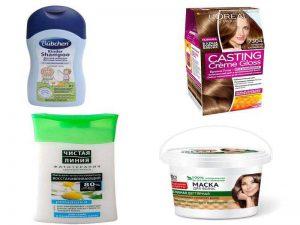 Парикмахерские аксессуары: шампунь, бальзам, маска, краска для волос