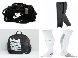 Аксессуары Nike: спортивная сумка, спортивные штаны, рюкзак, гетры