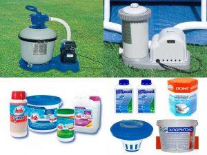 Средства очистки для бассейнов: фильтры, химические средства