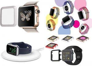Аксессуары для часов Apple Watch: защитная плёнка, бампера, док-станция, ремешки