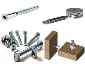 Крепёжные аксессуары для мебели: конфирмат, эксцентрики, шканты, резьбовой крепёж