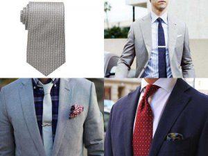 Аксессуары для мужчин: галстук и зажим для него