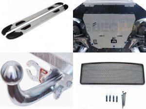 Аксессуары для Volvo VC90: пороги, сетка на радиатор, фаркоп, защита картера