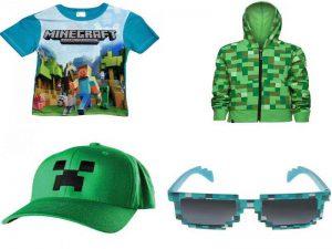 Аксессуары Майнкрафт: футболки, пиксельные очки, толстовки, бейсболки