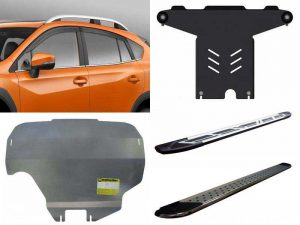 Аксессуары Субару: дефлекторы, пороги, защита картера двигателя, защита КПП