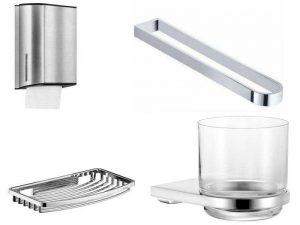 Аксессуары для ванной Keuco: диспенсеры, держатели полотенец, мыльницы, стаканы