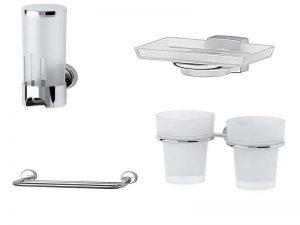 Аксессуары для ванной FBS: диспенсеры, мыльницы, держатели полотенец, стаканы