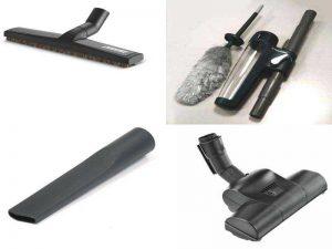 Аксессуары для пылесосов: щётка для паркета, турбощетка, щелевое сопло, электростатическая метёлка