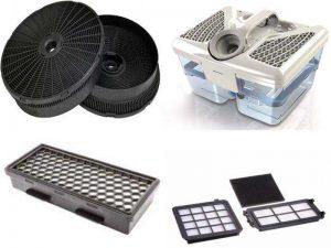 Аксессуары для пылесосов: угольные фильтры, микрофильтры, аквафильтры, НЕРА-фильтры
