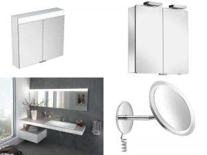 Аксессуары для ванной Keuco: зеркальные шкафы, зеркала с подсветкой