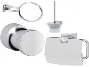 Аксессуары FBS в ванную комнату: зеркала, ёршики, держатели, вешалки
