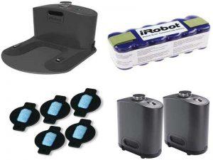 Аксессуары для пылесосов: зарядные базы, ограничители движения, аккумуляторы, дозаторы