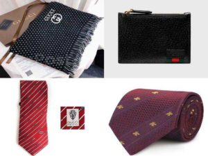 Мужские аксессуары Гуччи: шарфы, галстуки, кошелки