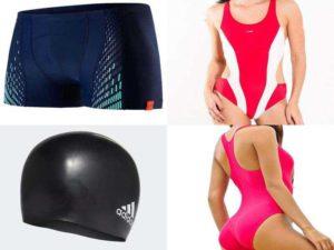 Аксессуары для плавания: плавки, купальные костюмы, шапочки