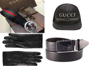 Мужские аксессуары Гуччи: ремни, перчатки, головные уборы