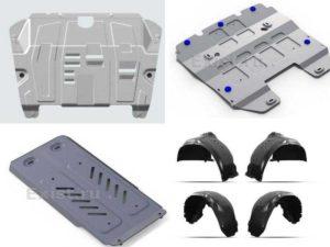 Аксессуары Лексус: защита картера и КПП, комплект защитных колёсных арок, защита КПП, защита радиатора