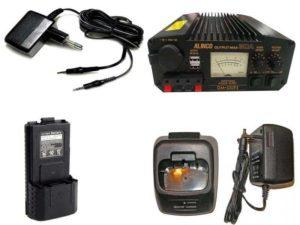Аксессуары для раций: сетевые адаптеры, зарядные устройства, аккумуляторы, блоки питания