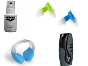 Аксессуары для плавания: антифог, беруши, зажим для носа