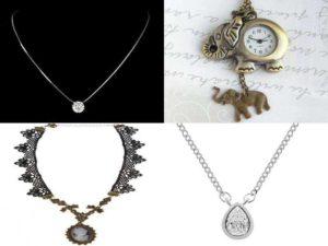 Аксессуары на шею: медальоны, кулоны, камея, часы-кулоны