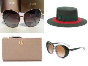 Женские аксессуары Гуччи: солнцезащитные очки, кошельки, шляпы