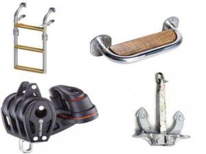 Аксессуары для катеров: палубное оборудование, якорно─швартовое оборудование, такелажное оборудование