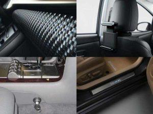 Аксессуары для Лексус: накладки на переднюю панель, накладки на пороги, универсальный держатель, блокиратор АКПП