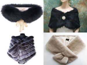 Аксессуары из меха на шею и плечи: воротник, шарф, палантин, накидка
