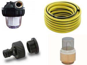 Аксессуары для садовых насосов: фильтры, армированные шланги, фитинги, обратные клапаны