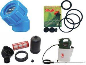 Аксессуары для опрыскивателей: насадки, компрессионное кольцо, клапаны, сменные пульверизаторы