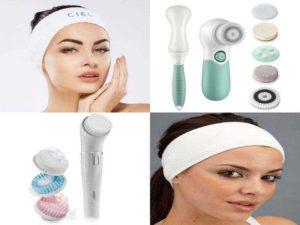 Аксессуары для лица: косметическая повязка для лица, щётка для чистки лица