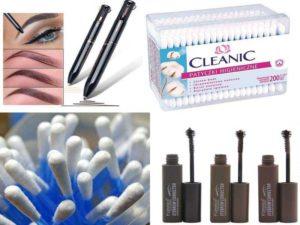 Аксессуары для лица: корректор бровей, ватные палочки